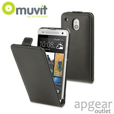 Muvit genuina HTC One Mini Negro Slim Musli 0265 Funda De Teléfono envasado al por menor