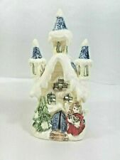 Victorian House T-Light Holder W/Candle Gift Link 2003 Item #X-1058 In Box