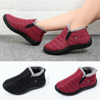 Womens Ankle Shoes Soft Sole Breathable Anti Slip Round Toe Winter Warm Boots