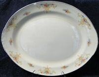 Homer Laughlin Eggshell Nautilus Rochelle Large Serving Platter 15 1/4""