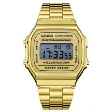 Casio Classic Digital Quartz Alarm Calendar Stainless Steel Unisex Watch 168WA