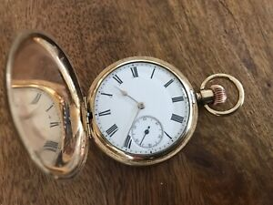 Waltham Rose Gold Plated Full Hunter Traveller  Pocket Watch. Dated 1904.