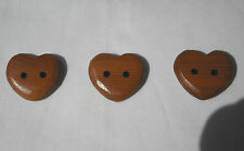 Handcrafted Red Cedar Heart Shaped Button, Item 273