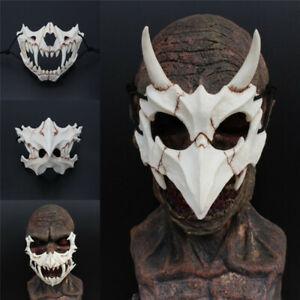 Japan Demon Samurai Kabuki Oni Ninja Tengu Dragon Yaksa Tiger Resin Mask Cosplay
