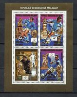 S6401) Malgasy Rep.Madagaskar 1990 MNH Wc Football' 90- CM Fußball Ms Read Note