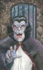 Dracula Vampire - 11 x 17 Art PRINT - Horror Classic Monster Watercolor