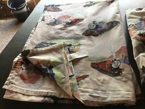 Pottery Barn Kids THOMAS THE TRAIN Organic Twin Top Sheet and Fitted Sheet EUC