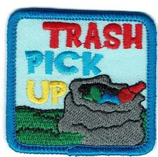 Girl Boy Cub TRASH PICK UP Fun Patches Crests Badge SCOUT GUIDE Litter clean bag