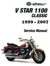 DIGITAL Yamaha V-Star 1100 motorcycle 1999 2000 2001 2002 2003 service manual