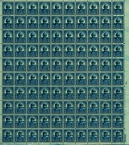 US #648 5c Roosevelt Hawaii Overprint Full Sheet PN #18908 CV $2,500 MNH VF