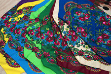 Russian Shawl. Ukrainian Floral Scarf chale russe Different colors foulard russe