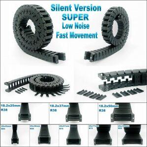 Nylon Cable Drag Chain Fast Movement Wire Carrier CNC Router 3D Printer Conduit
