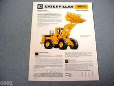 Caterpillar 980C Wheel Loader Brochure 1983
