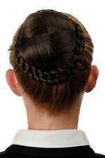 Dutt Haarteil aufwendig geflochten Haarknoten Tracht Mittel-Asch-Braun N796-8