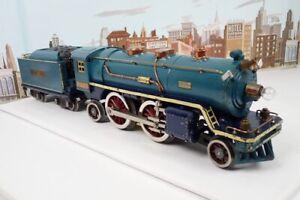 Vintage Prewar Lionel Standard Gauge No.390E Blue Comet Steam Engine & Tender