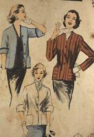 1950s Advance Sewing Pattern 6504 Jacket Bust 30