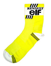 RENAULT ELF RETRO TEAM CYCLING BIKE SOCKS - Vintage - Fixed Gear - Made in Italy
