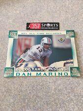 1996 DAN MARINO UPPER DECK UDA JUMBO DIE CUT NFL ALL TIME RECORDS CARD MINT HOF