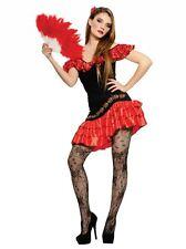 Womens Spanish Lady Flemenco Senorita Salsa Fancy Dress Costume