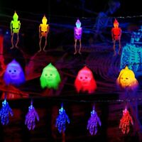 50LED Halloween String Lights Skeleton Skull Party Decor Fairy Battery Lights