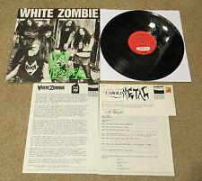 "WHITE ZOMBIE GOD OF THUNDER PROMO 12"" + PRESS KIT - KISS"