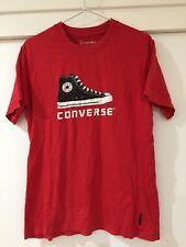Converse Mens Red Graphic Print T Shirt Size S Good Condition