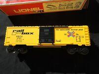 NEW IN BOX LIONEL O SCALE RAIL BOX  BOXCAR  #6-9767