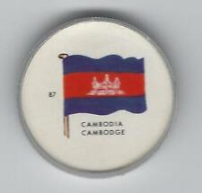 1963 General Mills Flags of the World Premium Coins #87 Cambodia