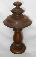 Large French Nicely Turned Wooden Furniture Newel Decoration Finial (2842i