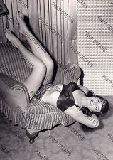 Vintage A4 Photo Poster Wall Print of 1950s Pin-up Burlesque Artist Bettie Page