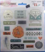 Glitz Design Hippy Van Puffy Words Stickers