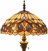 Floor Lamp with Stained Glass Lampshade
