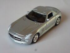 Modellauto Mercedes Benz SLS AMG silber  WELLY 1:60, NEU OVP Spielzeugauto