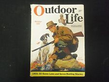 1931 OCTOBER OUTDOOR LIFE MAGAZINE - NICE ARTICLES, PHOTOS & ADS - ST 4573
