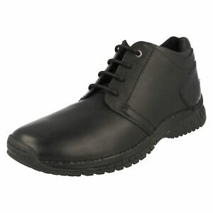 Mens Timberland Black Leather Lace Up Ankle boots 77562