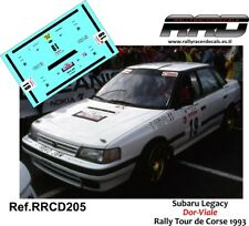 DECAL/CALCA 1/43; Subaru Legacy; Dor-Viale; Rally Tour de Corse 1993