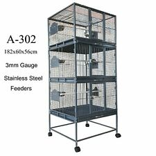 Triple Stackers Breeding Bird Cage Parrot Cage Aviary 182cm A302