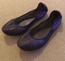 f2dfb2c9aef Tory Burch Deep Navy Whittaker Perforated Flats Sz 6.5 Retail  225 SOLD OUT