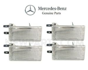 For Mercedes W210 W126 300SD Set of 4 Interior Courtesy Lights on Door Genuine