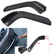 Pair Carbon Fiber Style Auto Car SUV Front Bumper Lip Diffuser Spoiler Splitters