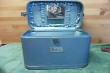 Wheary Vintage Carry on Miss America Suitcase Art Deco Luggage 1950's Rare