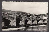 Postcard Crickhowell Powys Wales the Bridge and Table Mountain posted 1965 RP