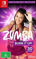 Zumba Burn It Up! Nintendo Switch Dancing Exercise Workout Fitness Routine Game