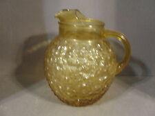 Anchor Hocking Gold Amber Lido Milano Glass Pitcher Water Iced Tea Lemonade