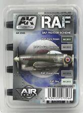 Ak Interactive Ak2080 Raf Day Fighter Scheme (Air Series) Paint Set British Wwii