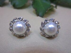NEW - Italina Inlay Pearl Earrings