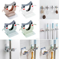 Large Bearing Seamless Mop Holder Rack Bathroom Wall Broom Hanger Hook //