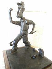 Bronzo Figura Statua Scultura giocatori di golf mazza da golf palla da golf Art & GOLF N. Chan