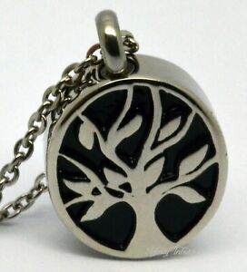 Tree of Life Cremation Urn Necklace Keepsake Pendant Charm for Ashes Oval Family
