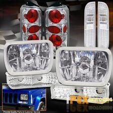 1997-2001 Jeep Cherokee Chrome Headlights + Corner + Signal Light+ Tail Light XJ